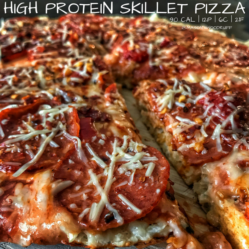90-Calorie Stovetop Skillet Pizza Recipe: High Protein And