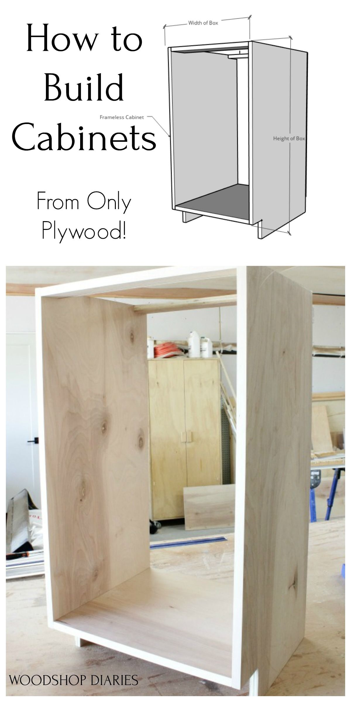 Diy Kitchen Cabinets Made From Only Plywood In 2020 Woodworking Cabinets Building Kitchen Cabinets Diy Kitchen Cabinets