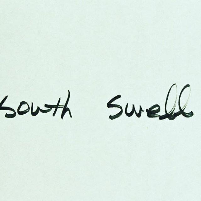 SOUTH SWELL  south swell, good swell  #서핑 #파도타기 #사우스스웰 #글씨 #캘리그라피 #드로잉 #일러스트  #surf #southswell #california #caligraphy #drawing #illustration #doodle