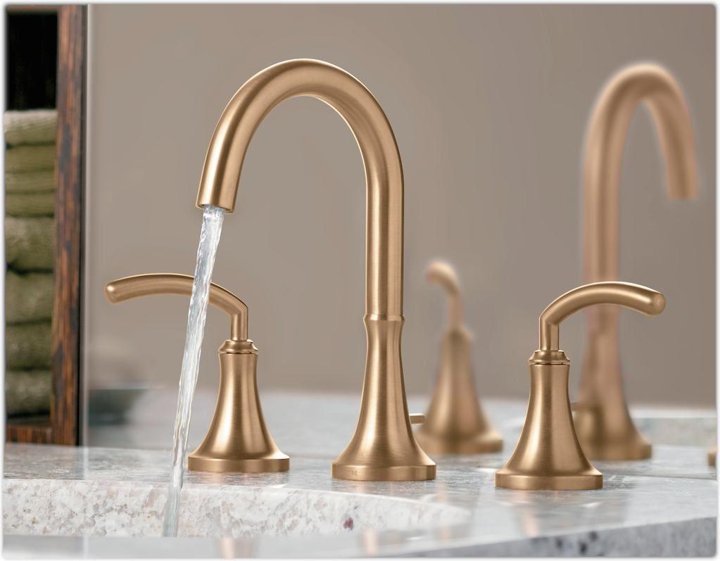 beautiful satin brass faucet