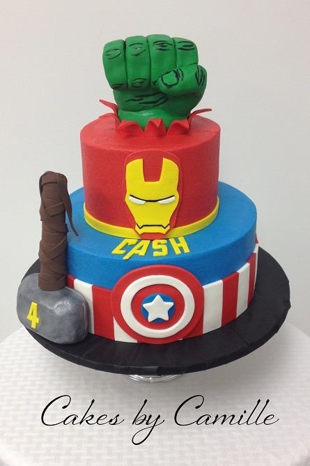 Peachy Avengers Birthday Cake With Images Avengers Birthday Cakes Funny Birthday Cards Online Drosicarndamsfinfo
