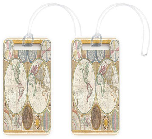 Rikki knight vintage world map design luggage identifier tags set rikki knight vintage world map design luggage identifier tags set of 8 click image to gumiabroncs Images