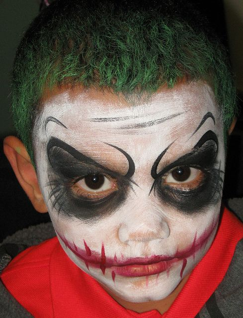 Easy Joker Face Paint