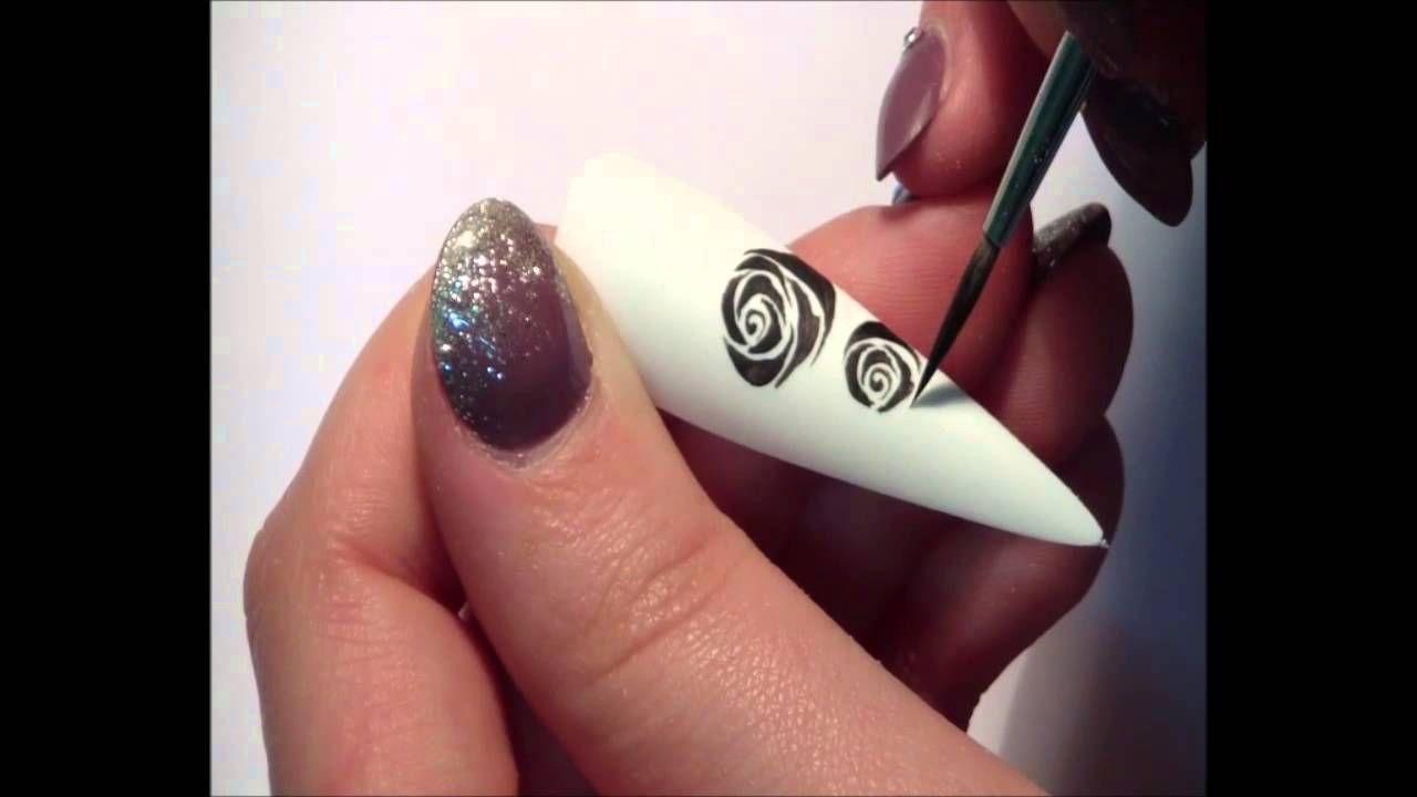 Rose Stilizzate Unghie Nail Art Tutorial