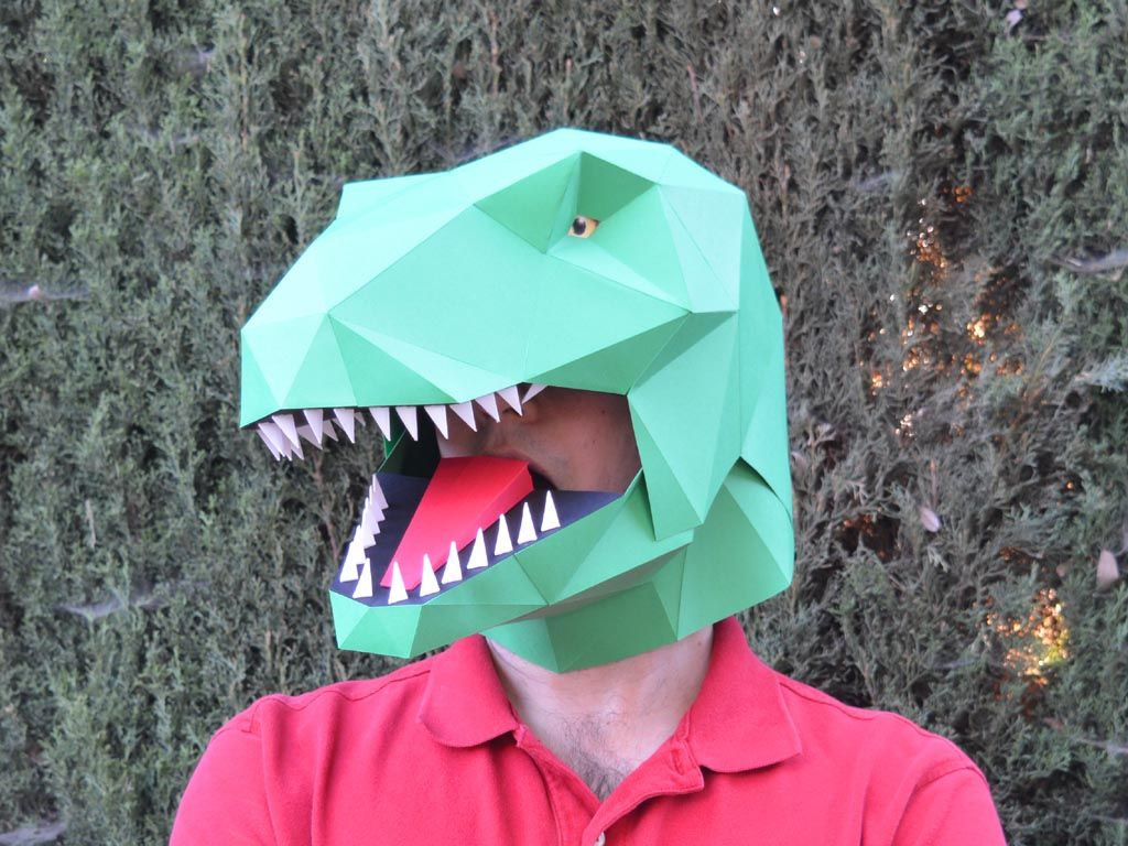 Talking T-Rex Mask - Build a Dinosaur with Moving Mouth!   Paper ...