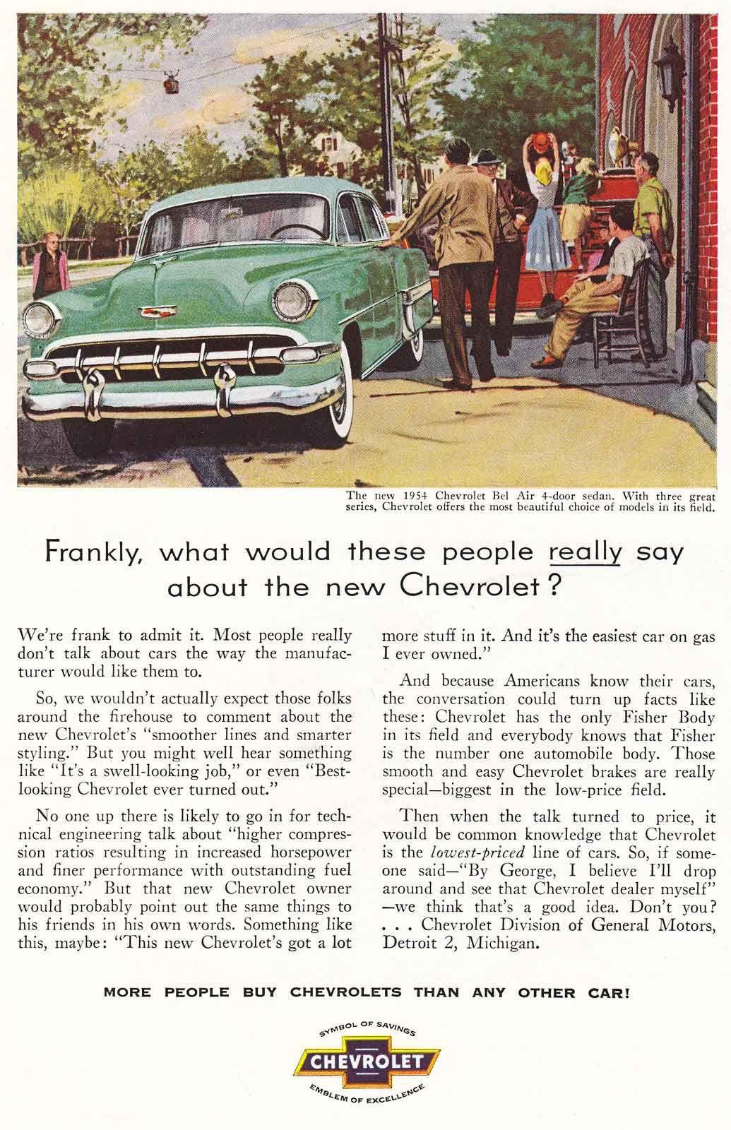 Chevy Bel Air, Car Advert 1957 Classic chevrolet