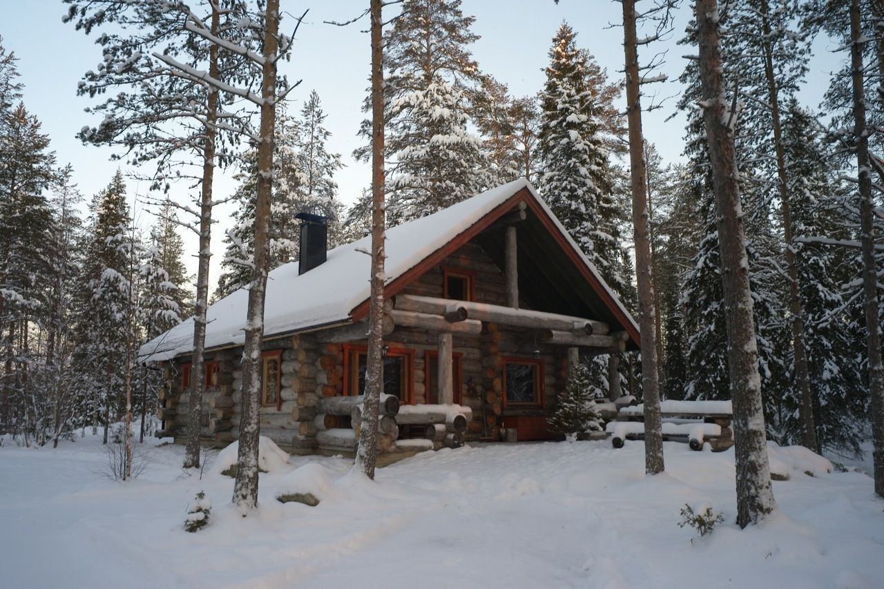 Hirvipirtit lapland cabins finland taivalkoski cabin nr 2 winter outside