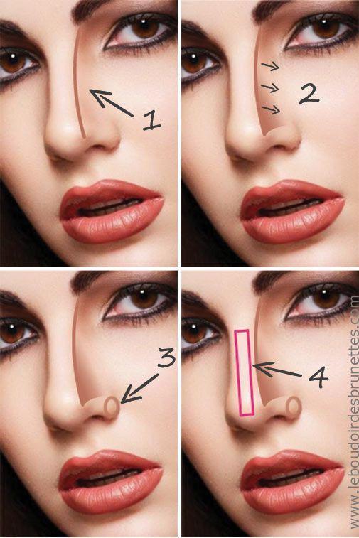 Affiner un nez trop gros Makeup, Nose makeup, Nose