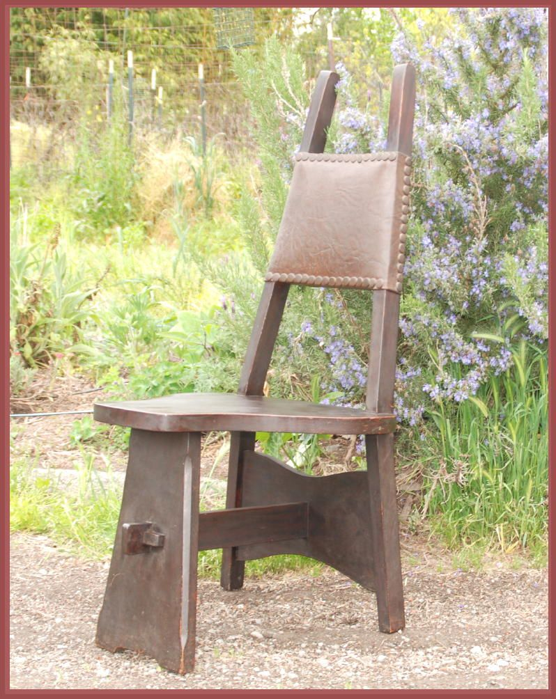 charles limbert quartered oak hall or cafe chair, wood seat