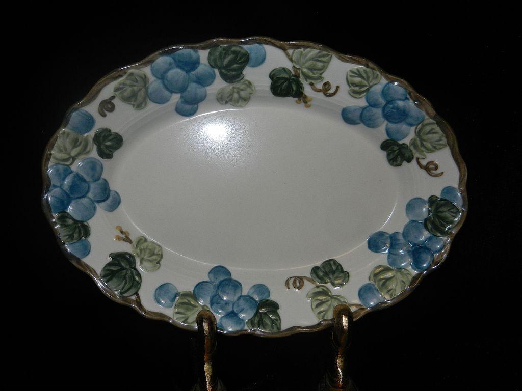 Vintage Sculptured Grape Poppytrail Platter  by Metlox