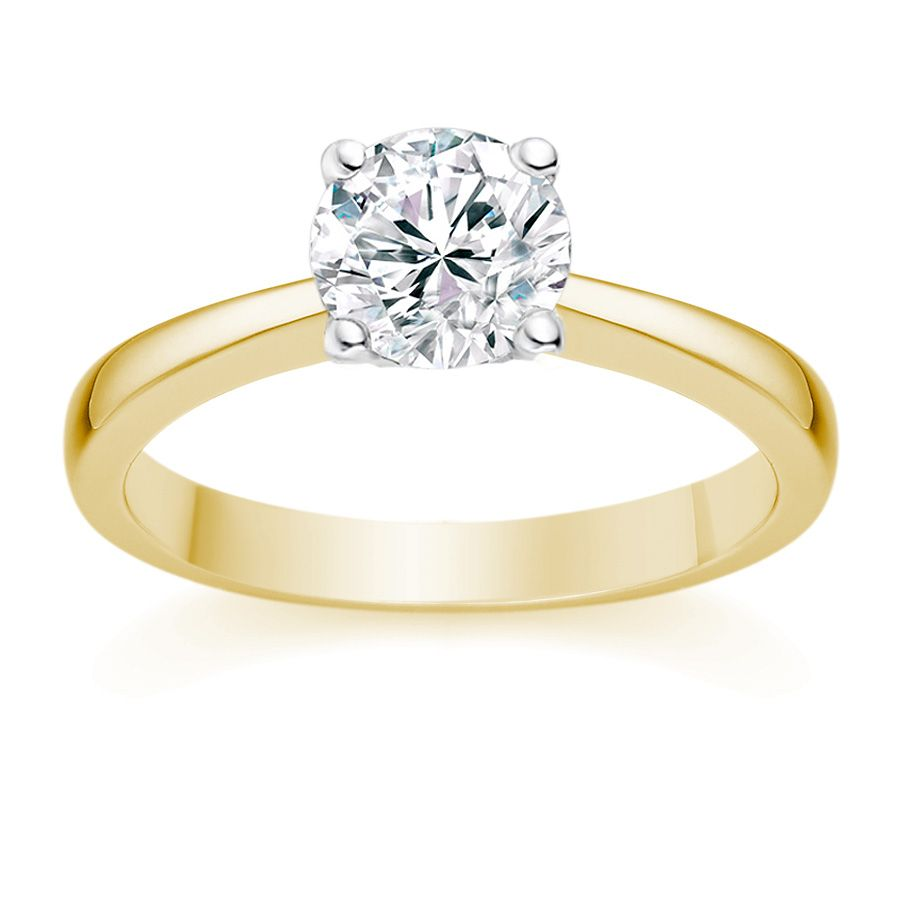 carat round brilliant certified diamond solitaire engagement ring in platinum - Gold Diamond Wedding Rings