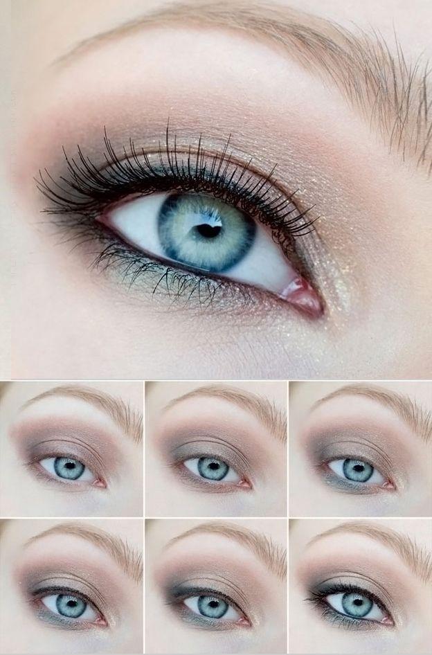 Как правильно красить голубые глаза: секреты макияжа в ...