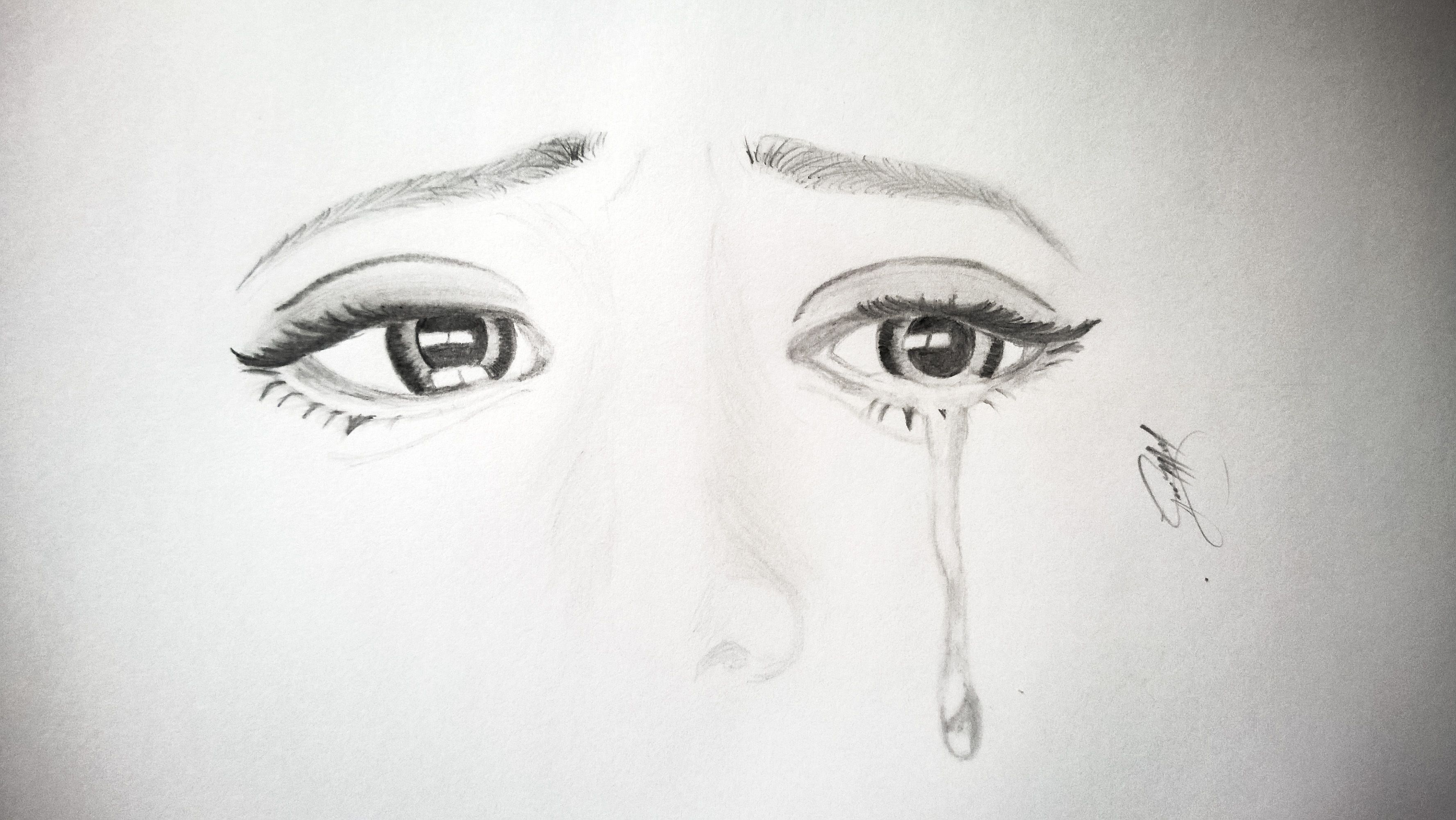 Image result for sad eye drawing tumblr
