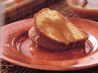 Brown Sugar Cake with Buttery Brown Sugar Sauce.