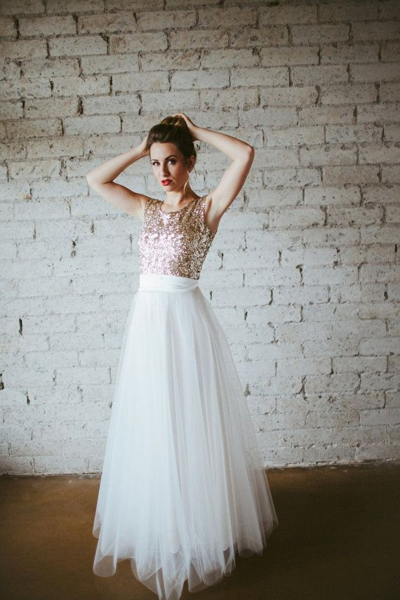 Gold Sequin Cap Sleeve Floor Length Tulle Gown - Dreams Do Come True ...