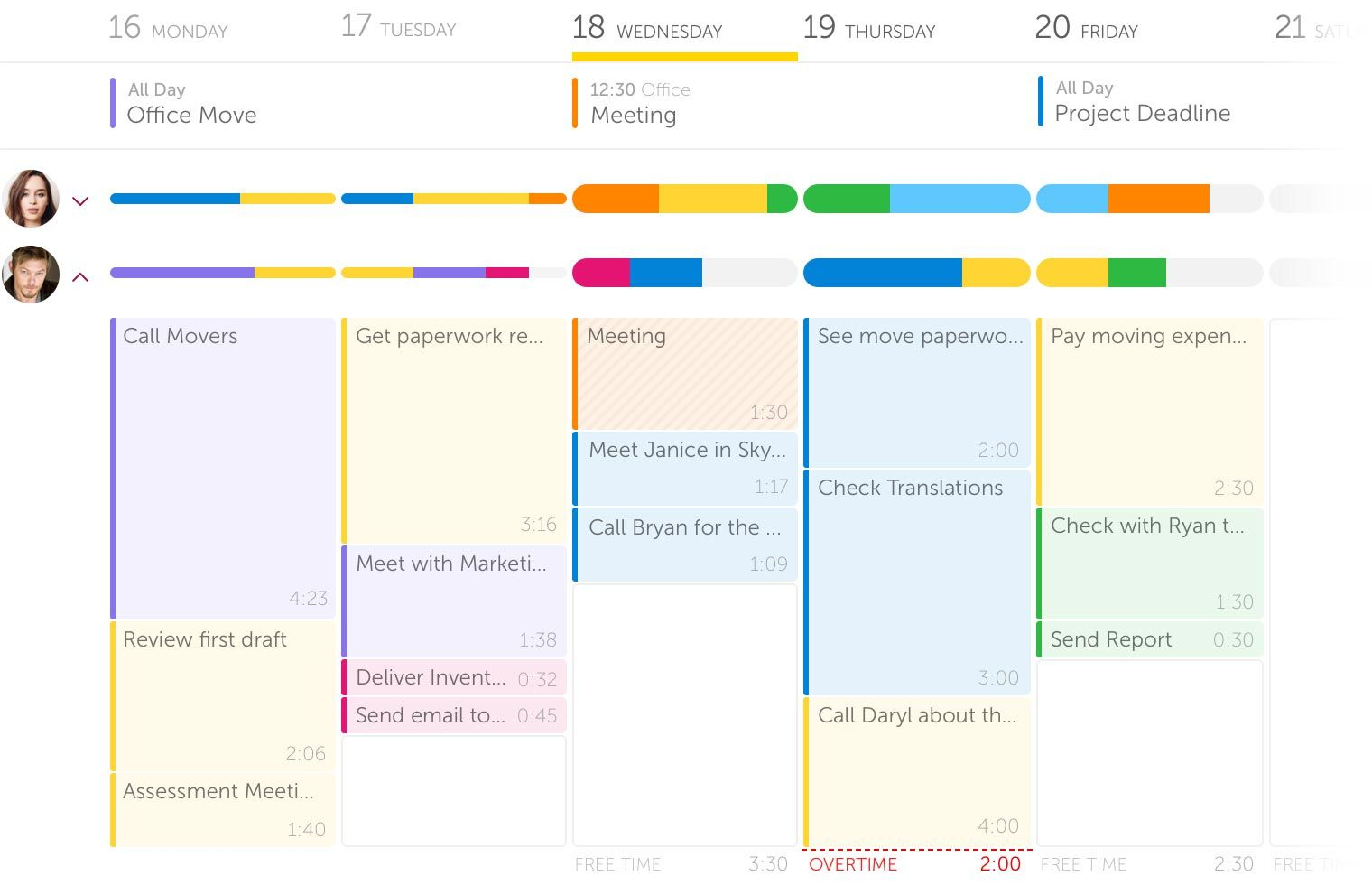 Outplanr Turn todos into work days Scheduling software