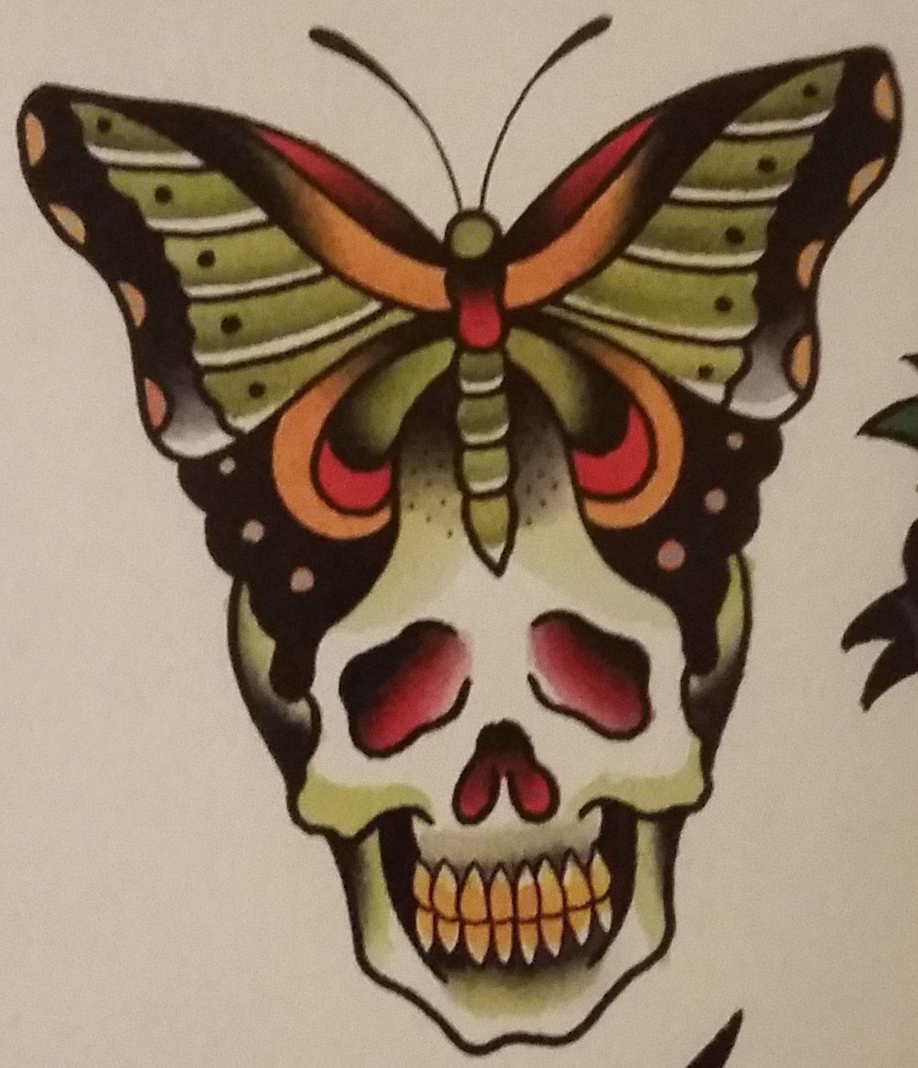 "Traditional Flash Skull Tattoos: Traditional/old School Tattoo, Jeromey ""tilt"" McCulloch"