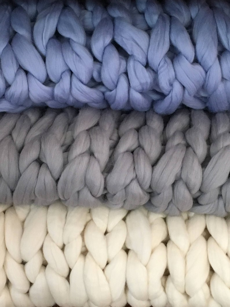 Queen Super Chunky Knit Blanket Merino Wool 60 X 90 Queen Blanket Giant Knit Extra Chunky Wool Blanket Bulky Knit Blanket Arm Knit Cozy Super Chunky Knit Blanket Super Chunky Knit Bulky