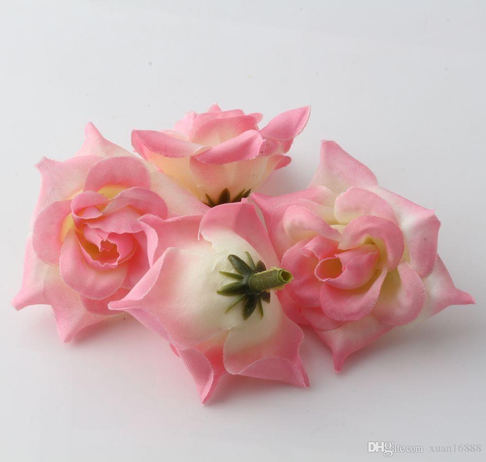 gro handel hot rosa rosen blumen kopf k nstliche blumen hochzeits dekoration blumen 5cm von. Black Bedroom Furniture Sets. Home Design Ideas
