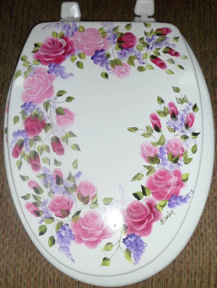 Shabby Chic Toilet Seat Cover The Shabby Chic Me  Pinterest - Burgundy toilet seat cover