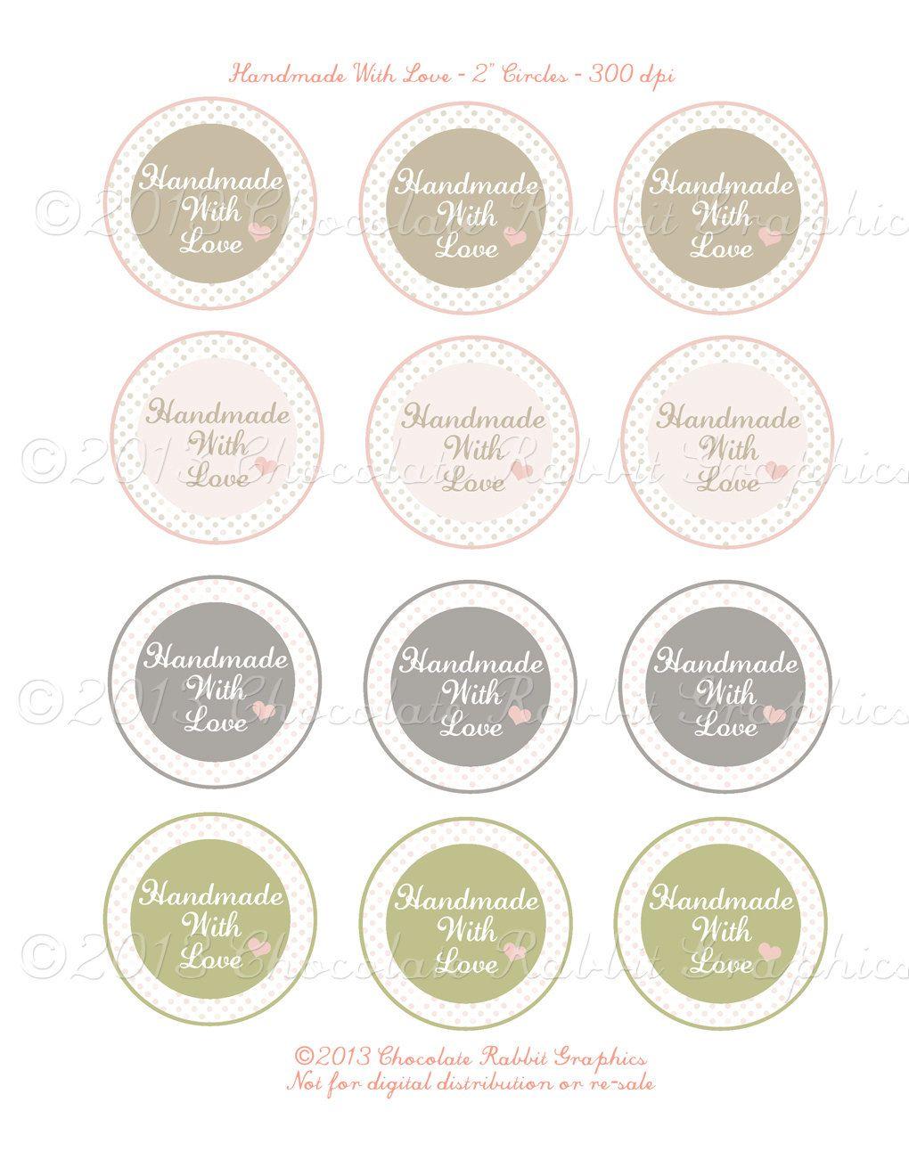 Valentine Handmade Label | Labels | Pinterest | Imprimibles y Tarjetas