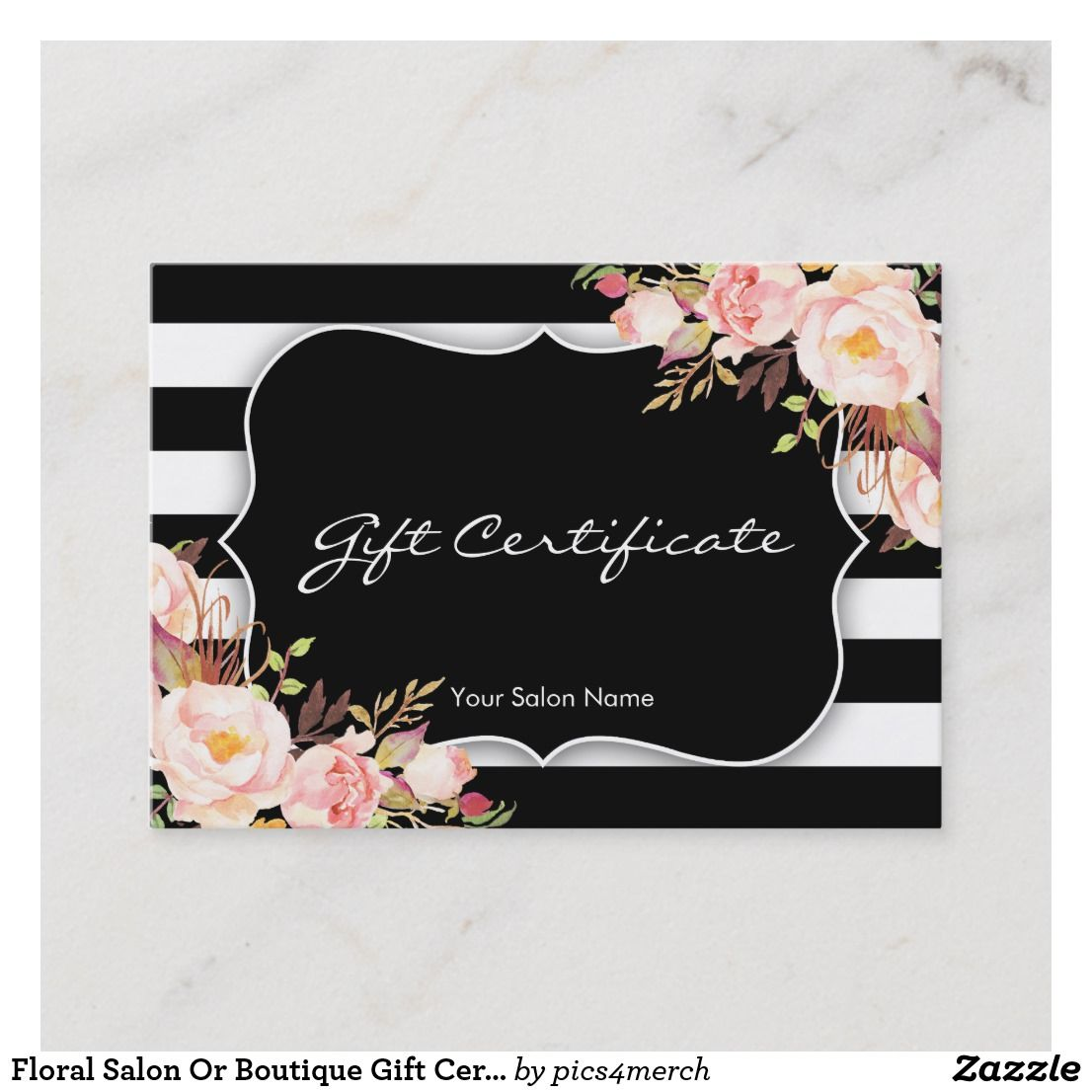 Watercolor Watercolor Flowers Watercolor Floral Gift Certificate Download Premade Gift Gift Card Template Gift Certificate Template Blank Gift Certificate