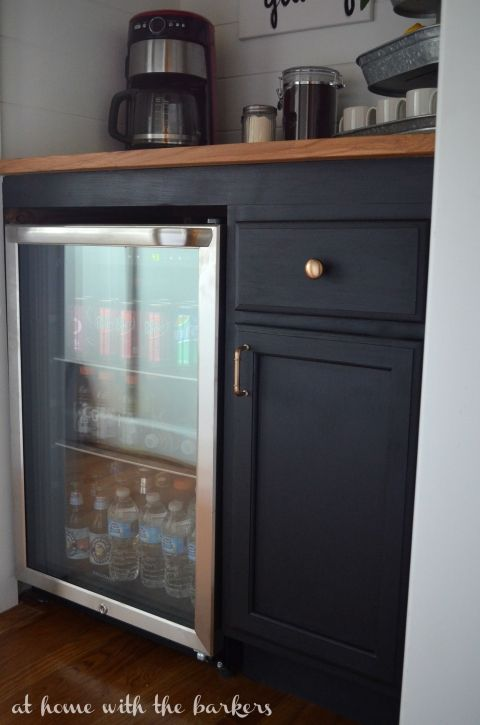 How To Build A Beverage Bar Mini Fridge Cabinet Home Diy Bar Furniture
