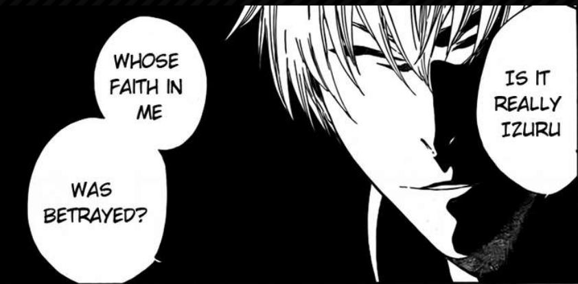 Gin questioning Rangiku http://kissmanga.com/Manga/Bleach/Bleach-412?id=8451