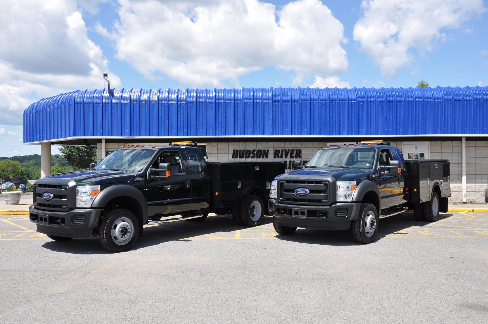 These F 550s Were Outfitted With Stahl Service Bodies Spray