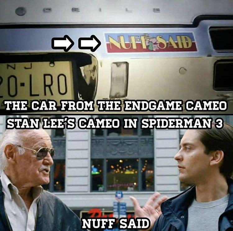 Spiderman 3 Avengers Endgame Stan Lee Cameo Marvel Funny Avengers Movies Superfamily Avengers
