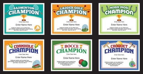 Backyard games certificates templates check out these award backyard games certificates templates check out these award certificates for bocce croquet ladder golf horse shoes cornhole and badminton yadclub Choice Image