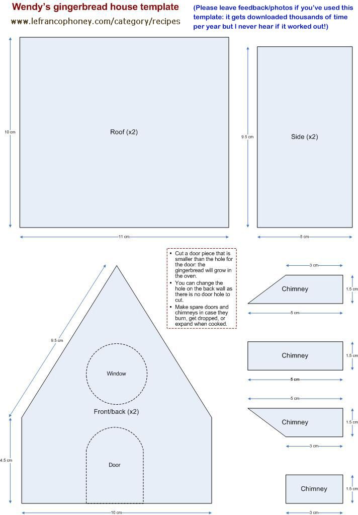 little gingerbread house template  small gingerbread house template @Jody Rieck Rieck McMillan ...