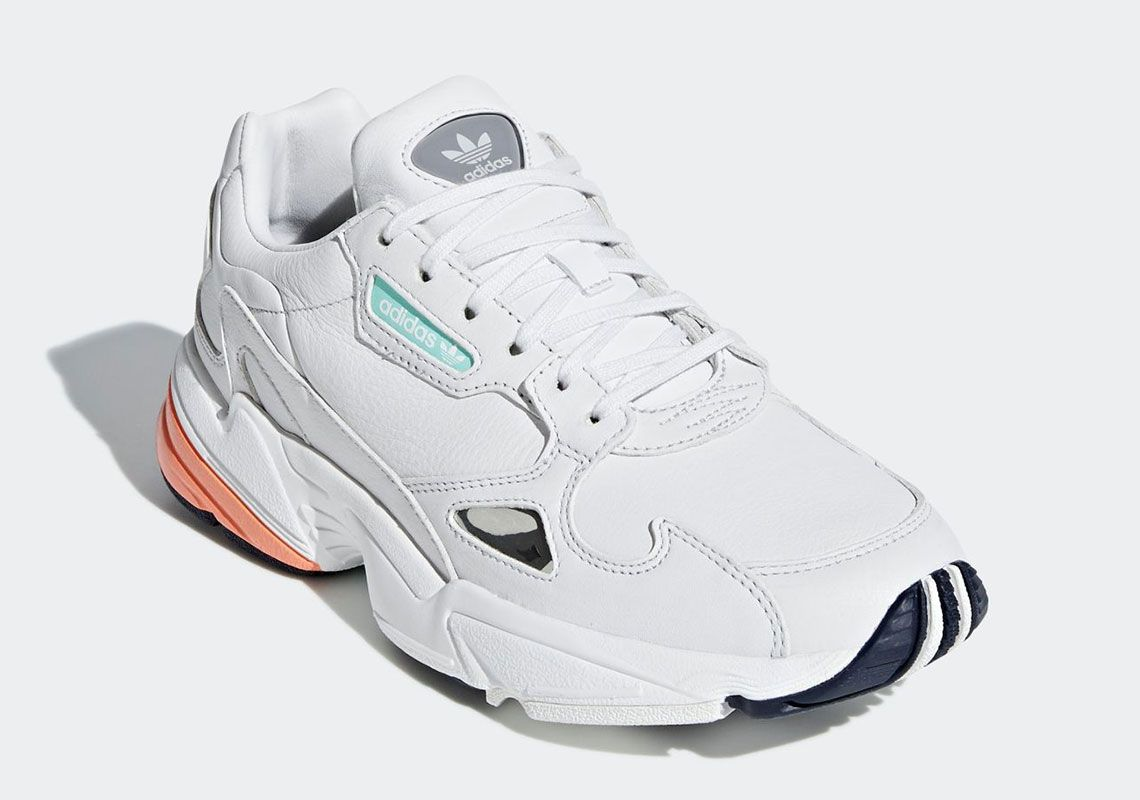 buy popular 5767f 2af1f The adidas Falcon For Women Appears In A Crisp White And Orange