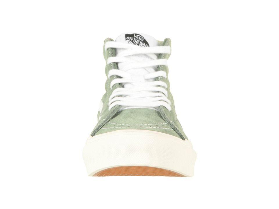 82d6e9a378bd Vans SK8-Hi Slim Skate Shoes (Retro Sport) Sea Spray True White ...