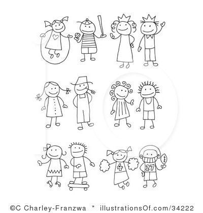 Stick Figure Clip Art Bing Images Dibujos Fáciles Caricaturas De Niños Como Hacer Un Cuaderno