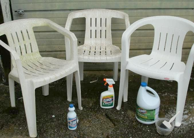 A Short Break For A Household Tip On Cleaning White Resin Chairs. Weu0027ve