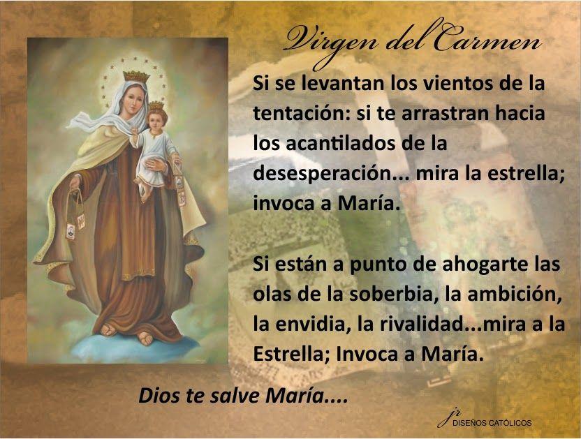 Mis Propósitos Virgen Del Carmen 021 Mi Dios Y Mamá
