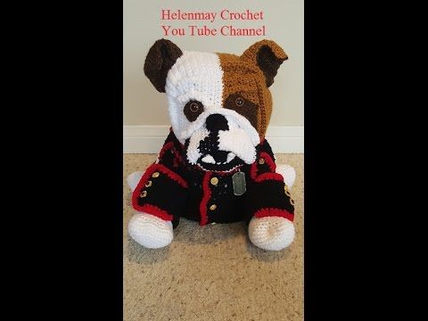 Crochet Amigurumi Bulldog Part 3 Of 3 Diy Tutorial Youtube