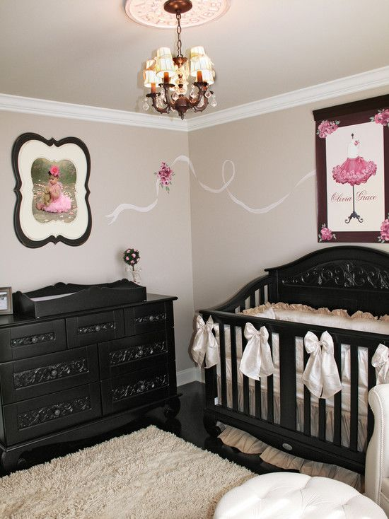 Kids Pink Black And White Baby Nursery Design, Pictures ...
