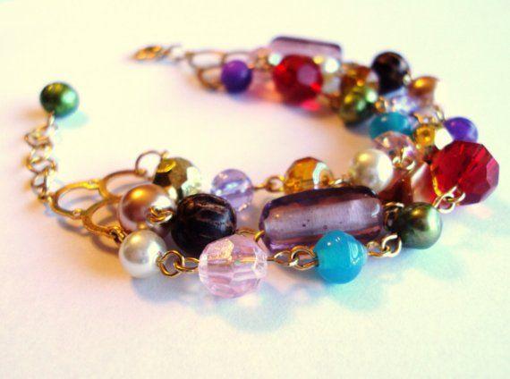 rock candy  bracelet by goldspun on Etsy, $25.00