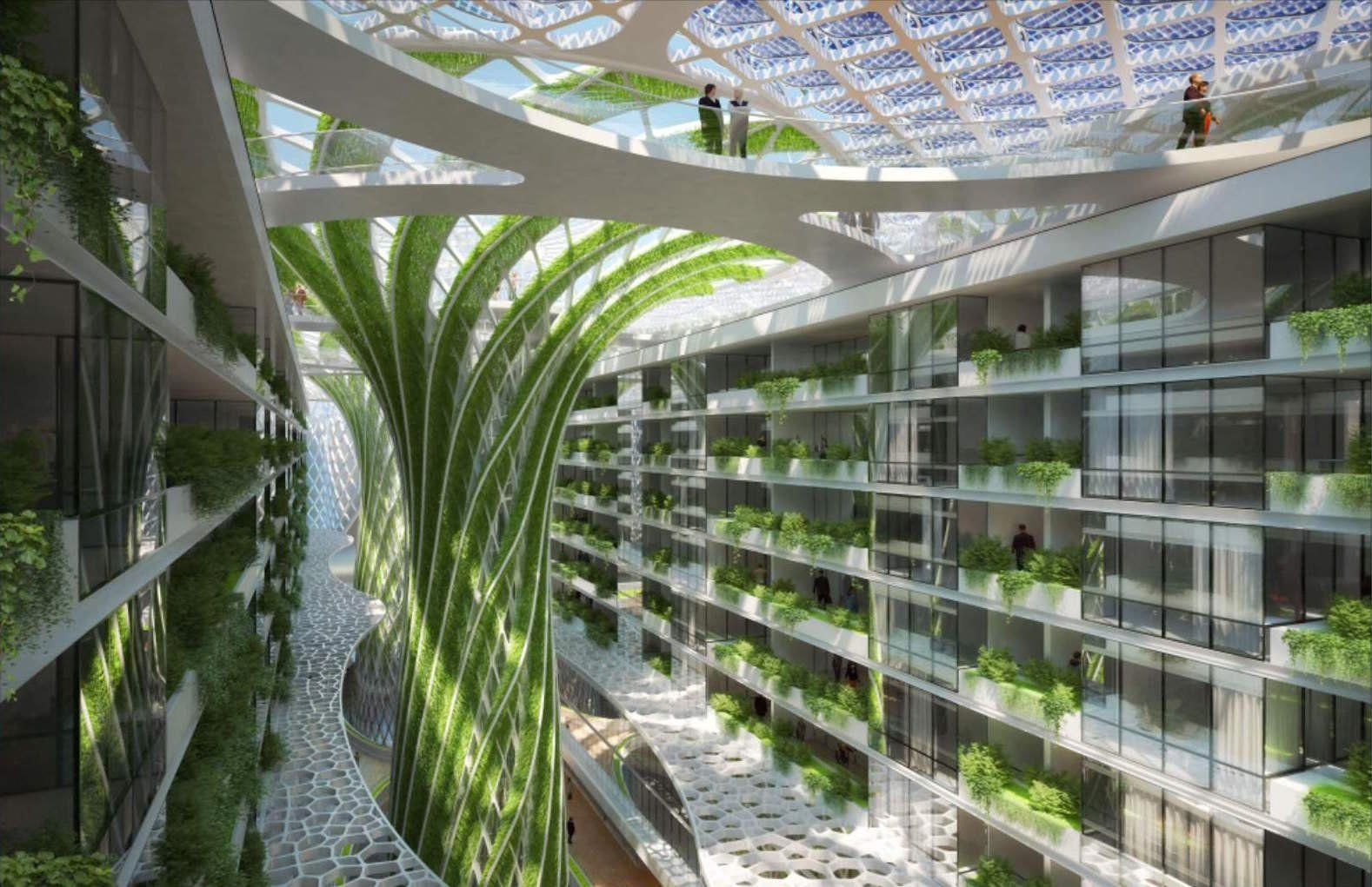 This futuristic complex in Cairo will feature indoor 'mega-trees' and 1,000 luxury apartments