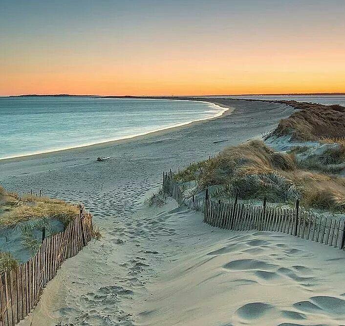 Island Beach Scenes: Napatree Point Beach In Watch Hill, Rhode Island.