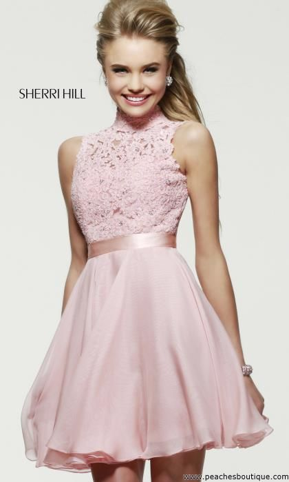 Sherri Hill Short Homecoming Dress 21184 at Peaches Boutique
