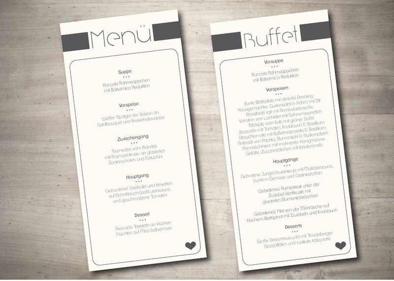 Buffet Karte Fur Deine Hochzeit Von Wonderwood Wonderwood