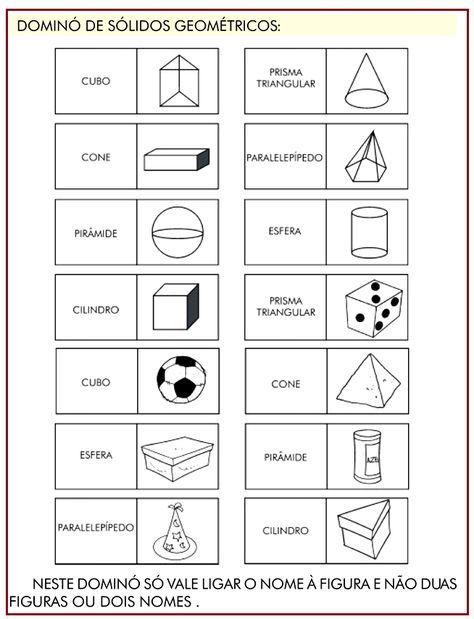 Domino Solidos Geometricos Rerida Maria Com Imagens