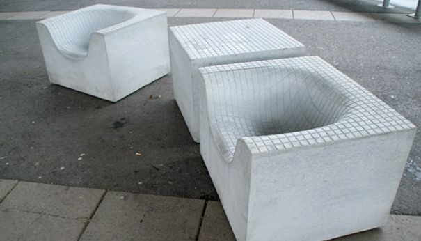 Outdoor Cement Chairs Komplot Gave Us The Grid Chair And