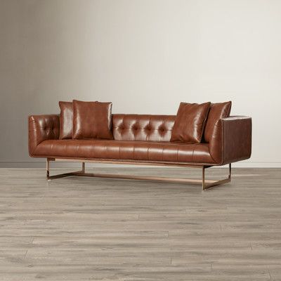 Best Brown Leather Sofa From Wayfair Canada Tufted Sofa With 400 x 300