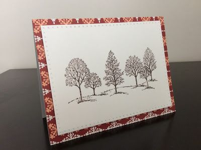 Christmas card 2016 using Lovely as a Tree stamp set by Stampin' UP.