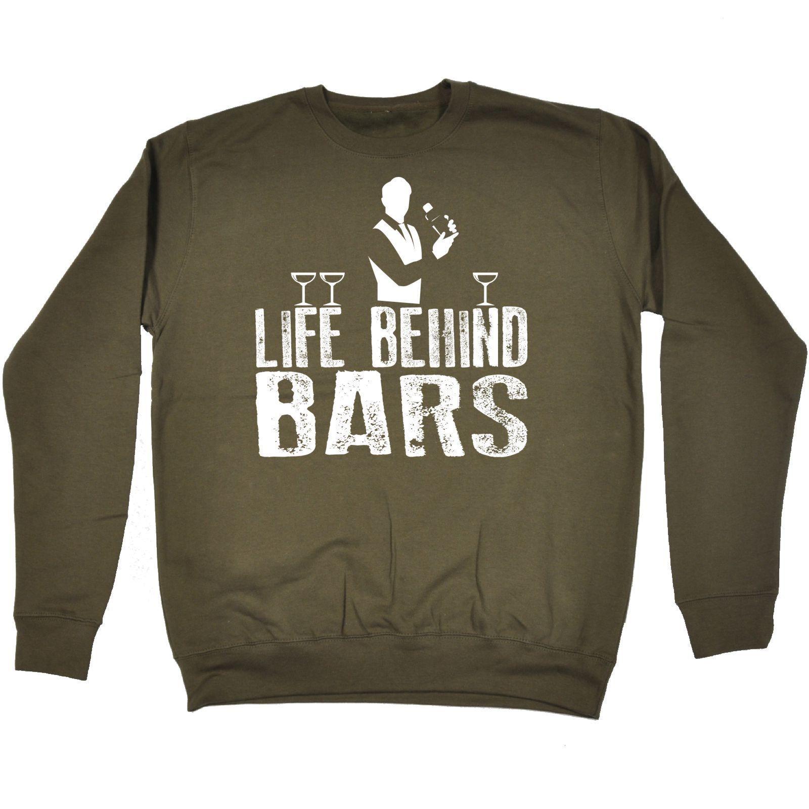 123t USA Life Behind Bars Bartender Funny Sweatshirt