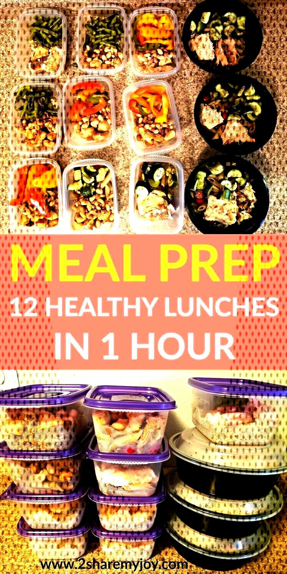 Meal Prep: 12 Healthy Lunches in 1 Hour Meal Prep: 12 Healthy Lunches in 1 Hour, Meal Prep: 12 Heal